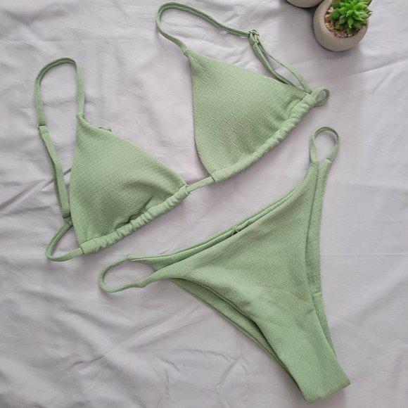 3/$30 ZAFUL Textured Tie String Bikini